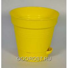 Горшок Глория с нижн. поливом d16 темн-желт