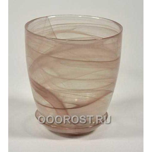 Горшок стеклянный №4 с поддоном Коричневый