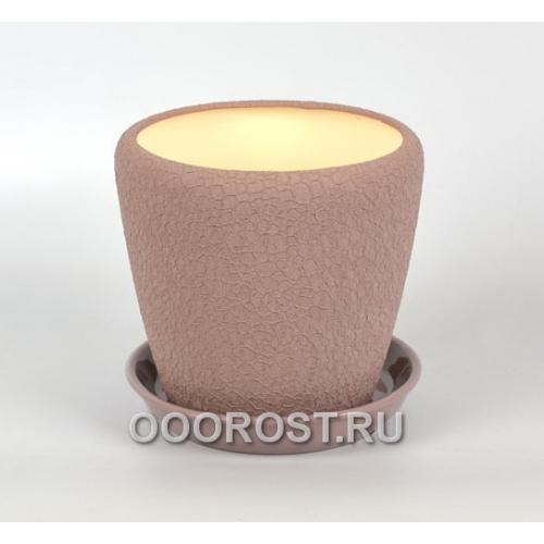 Керамический горшок Грация №3 шелк аметист 2,3л d17см