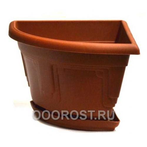 Горшок Петуния d30,7 угловой коричневый