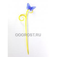 Держатель для орхидей Бабочка h 39см желто/сирен