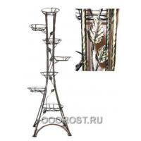 Подставка Березка-7  H151см (Витая с листочками)