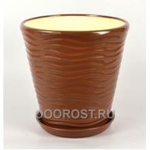 Горшок Новая волна 5,5л (глянец молочный шоколад)