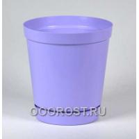 Горшок Глэдис 1,2л фиолетовый с поддоном
