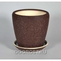 Горшок Грация №2 4,5л d 20см (шелк шокол.)