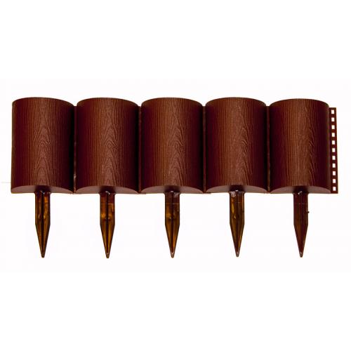 Заборчик Бревнышко шоколадный (дл 1м, выс 24см, 10секций)
