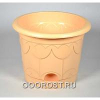 Горшок Тюльпан d22см 3,9л (бежевый)  с под