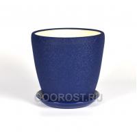 Горшок Грация №2 (шелк синий) 4,5л d 20см