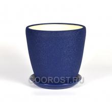 Горшок Грация №1 (шелк синий) 10л, d26см, h26см
