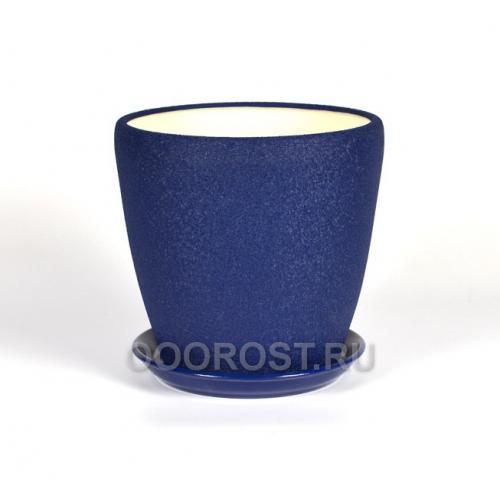 Горшок Грация №4 (шелк синий) 1,2л d13,5см