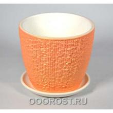 Горшок Сунгирь персик №3  d17,5см, h16см