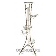 Подставка металлическая для цветов Классика на 5 горшков (Витая) с лампой  H148см