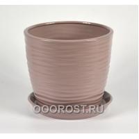 Горшок Грация-Волна №1 (глянец аметист) 7л, d25, h21см