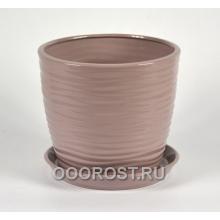 Горшок Грация-Волна №2 (глянец аметист) 4,3л, d22, h19см