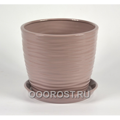 Горшок Грация-Волна №4 (глянец аметист) 1л, d13,5см