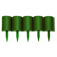 Заборчик Бревнышко зеленый (дл 1м, выс 24см)