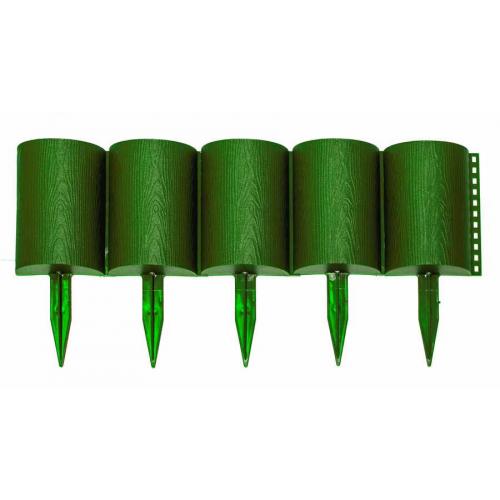 Заборчик Бревнышко зеленый (дл 1м, выс 24см, 10секций)
