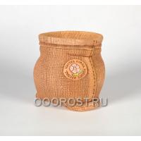 Керамическое кашпо Мешочек большой декоративный h19см, d17 см, 2.9л
