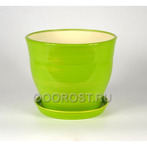 Горшок Флорис №2 (салатово-золотой) 5,5л, d23см, h20см