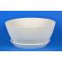 Керамический горшок Бонсайница крошка белая 5.5 л, d31 см, h13 см