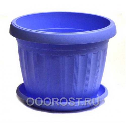 Горшок Терра d14 голубой