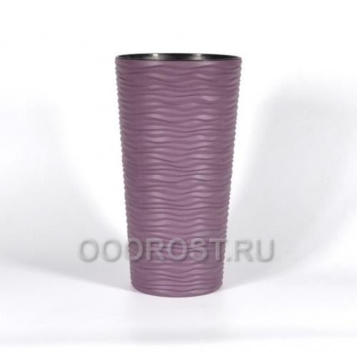 Горшок Фьюжн d16см, h30см со вставкой фиолетовый, вставка на 3л