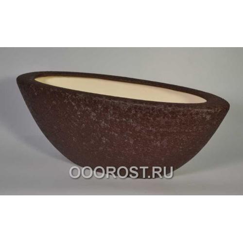 Кашпо Ладья №1 (шелк шоколадый) 9 л d 55*21см, h 21см