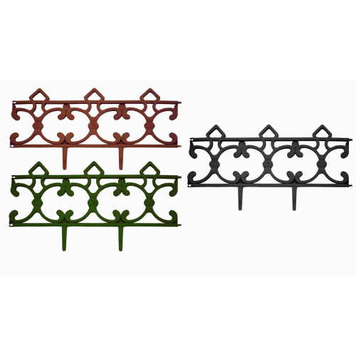 Заборчик Парковый зеленый (длина 2,9м, высота 31см, 5секций)