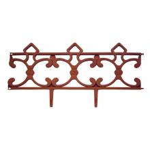 Заборчик Парковый терракот (дл 2,9м, выс 31см, 5секций)