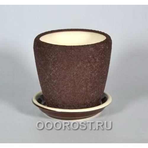 Горшок Грация №4 1,2л (шелк шокол.)