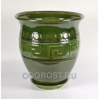 Горшок Аттика средний 30л  d 40см  h 42см   зеленый