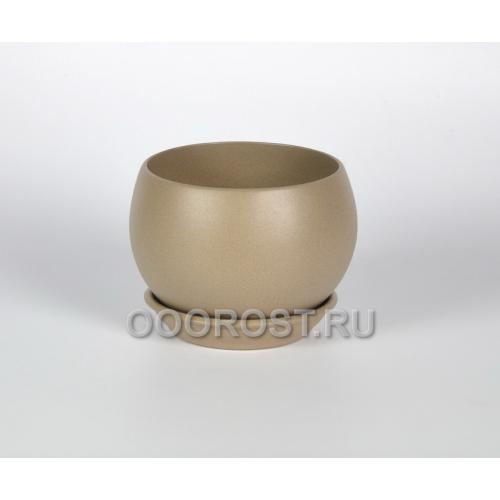Горшок Шар №2 (крошка капучино) 1.4л, d16см