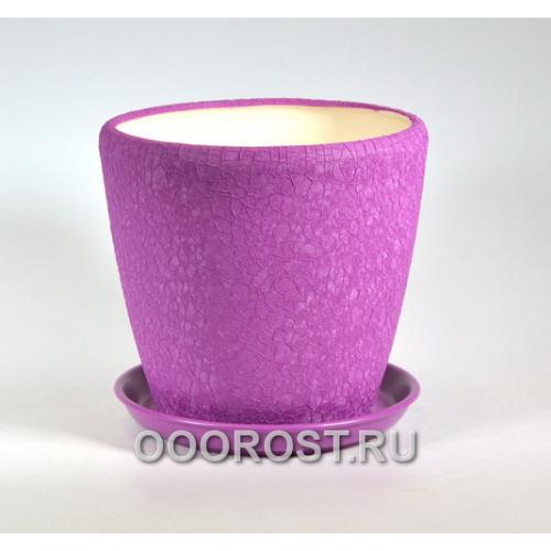 Горшок Грация №2 (шелк фуксия) 4,5л d 20см