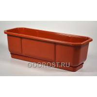 Ящик балконный Дама 50см коричневый