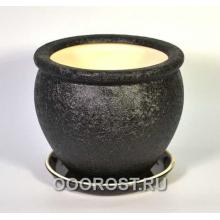 Горшок Вьетнам №3 (Шелк черный) 5л, d24см