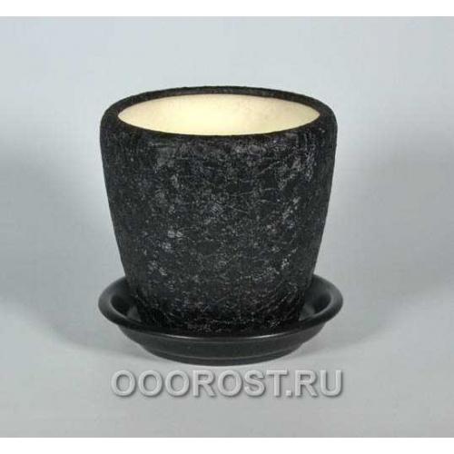 Горшок Грация №4 1,2л (шелк черн.)
