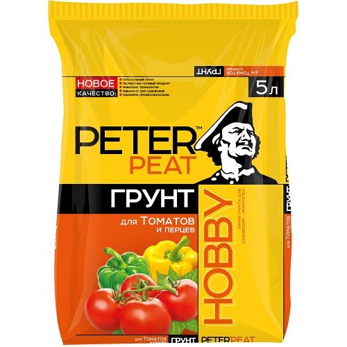 Грунт Для томатов и перцев Хобби 5л