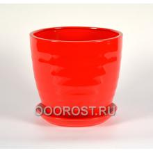Горшок Обруч №1 8,5л (глянец красный)  d 26см, h 24см
