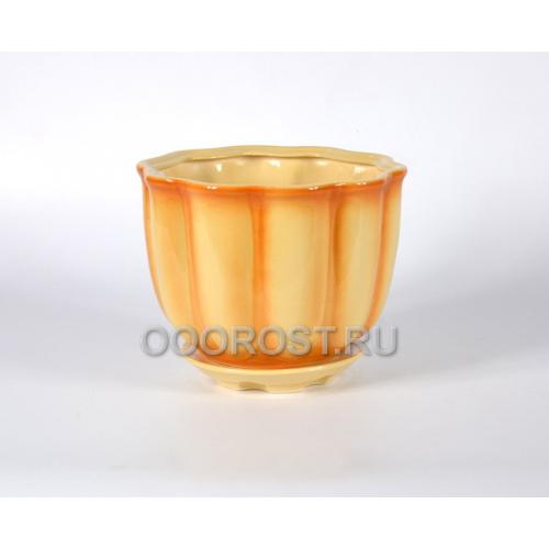 Горшок Тюльпан №2 (бежевый) 3,8л, d21см, h16см