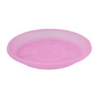 Поддон под дренажный горшок d 9см розово-прозрачный