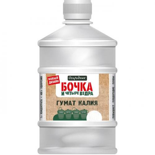 Удобрение Гумат калия Бочка и 4 ведра 1л, органоминеральное, жидкое
