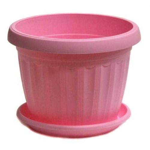 Горшок Терра d08см, выс 6,5см      розовый
