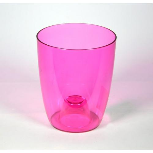 Кашпо Орхидея D16см розово-прозрачное