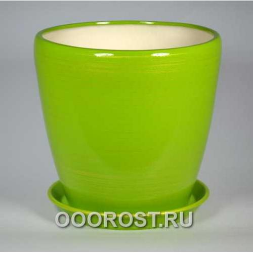 Горшок Грация №1 (глянец салатн-золото) 10л, d26см, h26см
