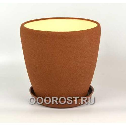 Керамический горшок Грация №1 шелк молочный шоколад 10л, d26см, h26см