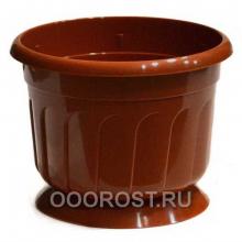 Горшок Рина d24 коричневый
