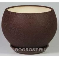 Горшок Шар №1  (шелк шокол.)  4,1л  d23см
