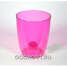 Кашпо Орхидея D12.6см, H15.1см розово-прозрачное