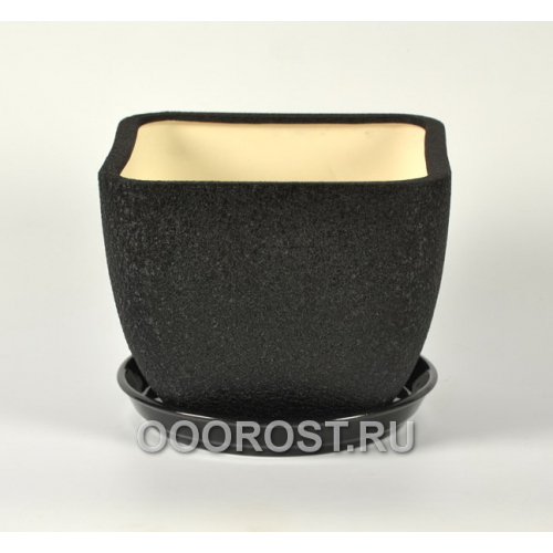 Горшок Ноктюрн №2 (шелк черный)  4,8л  d22см