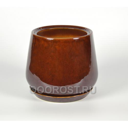 Горшок Скарлет №2 v5.5л, d19, h22 коричневый